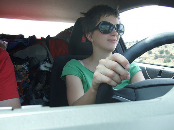 Me in my LA Sunglasses, Driving to TX